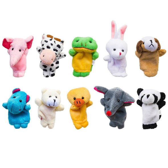10 pc SET Baby Plush Toy Finger Puppets - Story Telling Props