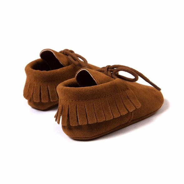 Baby Boy/Girl Vegan Suede Leather Moccasins