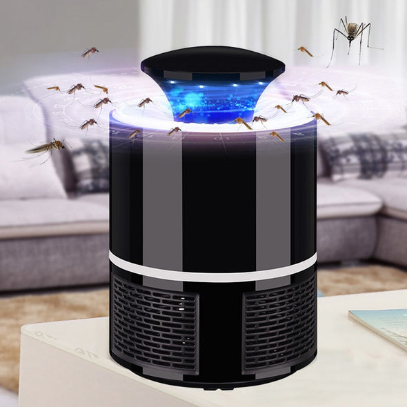 BuzzKill Mosquito Trap - Usb Powered LED Mosquito Killer Lamp [Quiet + Non-Toxic]
