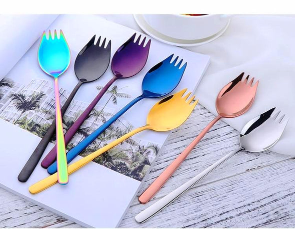 Korean Fork Style Spoon Set