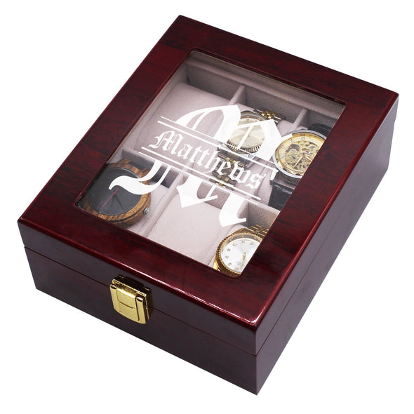 Christmas Gifts Personalized, Gifts for Men Watch Box Case (6 Slot)