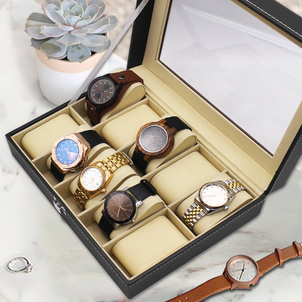 Gifts for Men Personalization Watch Box Case (10 Slot)