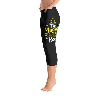 The Muggle Struggle Is Real Capri Leggings