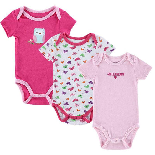 Baby Boy & Girl Bodysuits - 3PCS - 100% Cotton!
