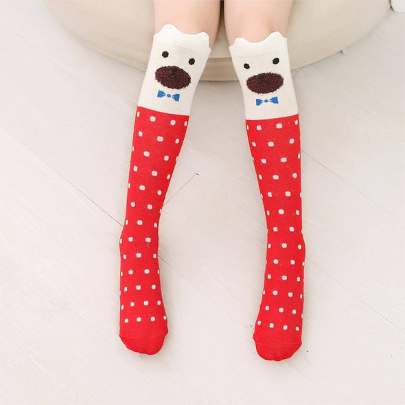 Animal Print Knee High Socks