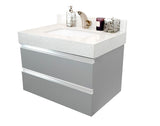 "30"" Floating Single Sink Vanity Set- Grey"