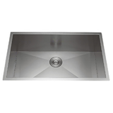 Handmade Undermount Stainless Steel 32 in. Single Bowl Kitchen Sink