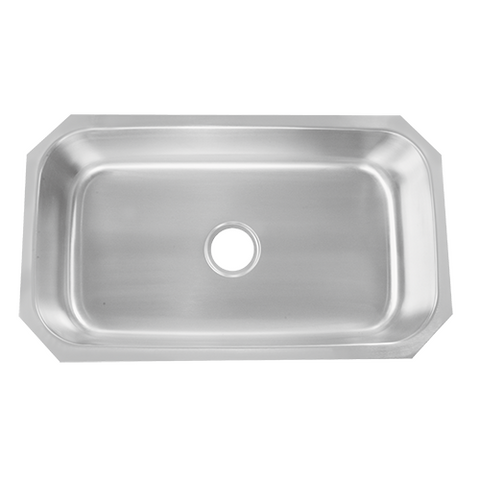 Undermount Stainless Steel 31-1/2 in. Single Bowl Kitchen Sink