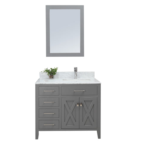"Palermo 36"" Single Sink Vanity Set (Excludes mirror)"