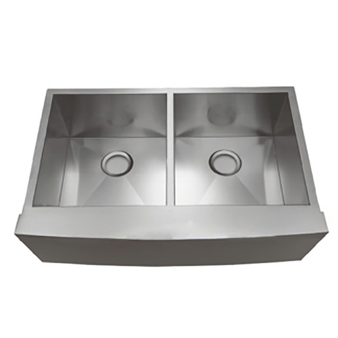 Farmhouse Apron Front Stainless Steel 33 3/8 in. Double Bowl 50/50 Kitchen Sink