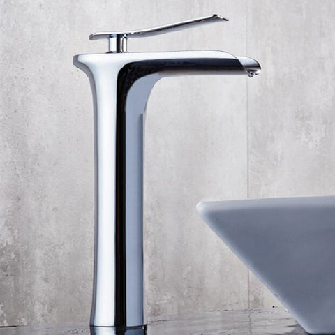 Single Hole Single-Handle Vessel Bathroom Faucet