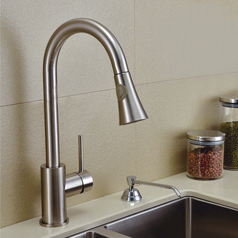 Modern Pull-Down Single Hole Single Handle Kitchen Faucet