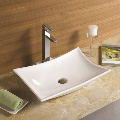 Contempo Rectangle Bathroom Top Mount Basin Sink