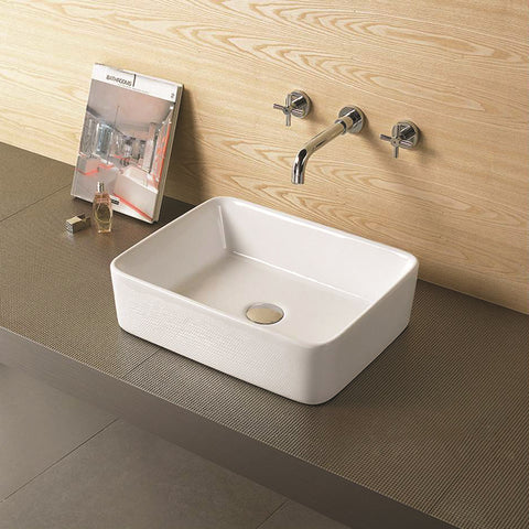 Farm Style Rectangle Bathroom Top Mount Basin Sink
