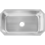 Undermount Stainless Steel 22-1/2 in. Single Bowl Kitchen Sink