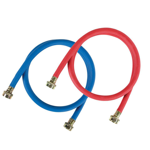 EPDM 4 ft. Red and Blue Washing Machine Hose (2 Pack)
