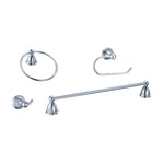 4-Piece Bath Accessory Set (Brushed Nickel or Polished Chrome)