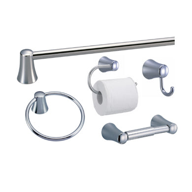5-Piece Bath Accessory Set in Polished Chrome