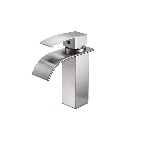 Single Hole Single Handle Bathroom Faucet in Brushed Nickel