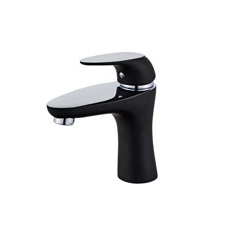 Single Hole Single Handle Bathroom Faucet in Matte Black