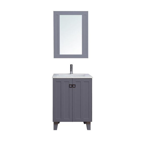 "30"" Single Sink Vanity Set with Mirror (Shaker Grey)**"