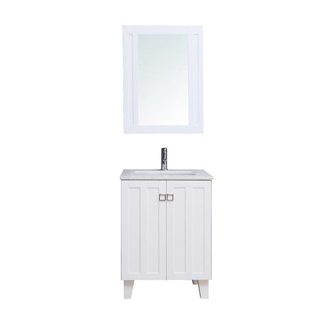 "30"" Single Sink Vanity Set with Mirror (Shaker White)**"