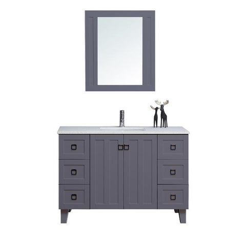 "48"" Single Sink Vanity Set with Mirror (Shaker Grey)**"