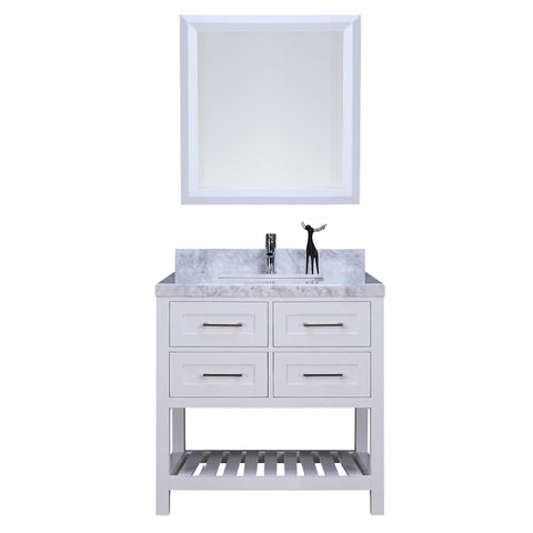 "36"" Single Sink Vanity Set w/ Towel Rack (White)**"