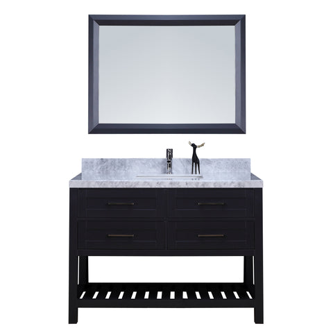 "48"" Single Sink Vanity Set w/ Towel Rack (Charcoal)**"