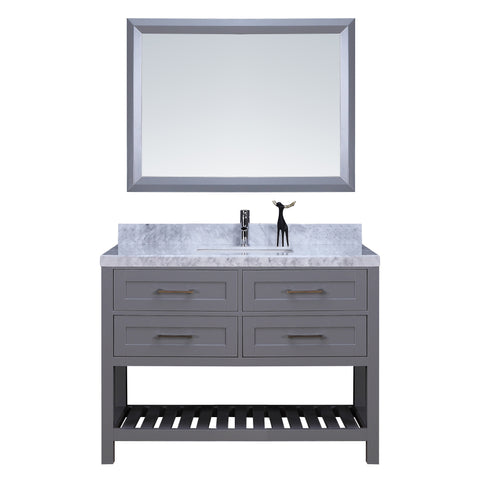 "48"" Single Sink Vanity Set w/ Towel Rack (Gray)**"