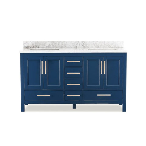 "60"" Double Sink Vanity Set (Blue)**"