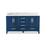 "72"" Double Sink Vanity Set (Blue)"