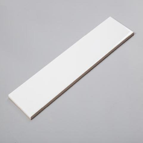 "Glossy White Ceramic Tile (4""x16"") (box of 25)"