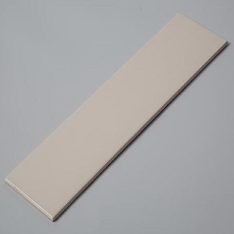 "Light Gray Matte Ceramic Tile (4""x16"")"