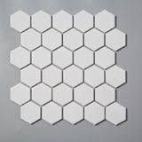 Glossy White Hexagonal Mosaic Tile (1 sq ft sheet)