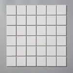 Glossy White Square Mosaic Tile (1 sq ft sheet)