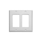 2-Gang Wall Plate in White (10-Pack)