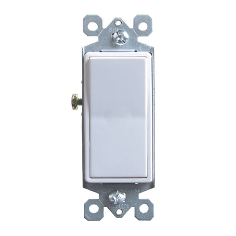 15 Amp Single-Pole Paddle Switch in White (10-Pack)