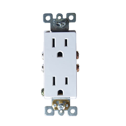 15 Amp Duplex Outlet in White (10-Pack)