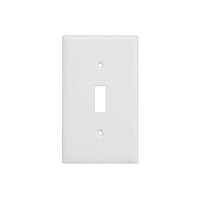 1-Gang Toggle Wall Plate in White (10-Pack)