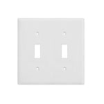 2-Gang Toggle Wall Plate in White (10-Pack)