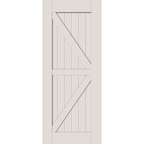 White Primer Barn Door Slab
