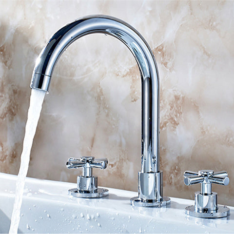 8 in. Classic Widespread 2-Handle Ultra-High Arc Bathroom Faucet