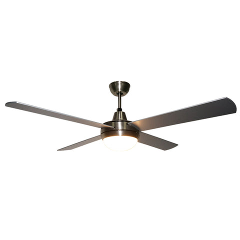 "52"" Brushed Nickel Ceiling Fan with Wall Control"