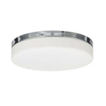 16.5 in. Brushed Nickel Ceiling Light with Opal White Glass Shade with LEDs