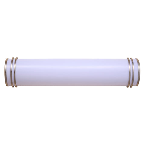 "48"" Cylindrical Vanity Light Fixture in Brushed Nickel"