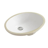 White Oval Bathroom Undermount Basin Sink