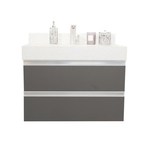 "30"" Floating Single Sink Vanity Set  -Charcoal"