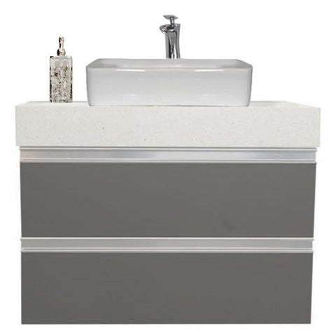 "30"" Floating Single Sink Vanity Set - Charcoal"