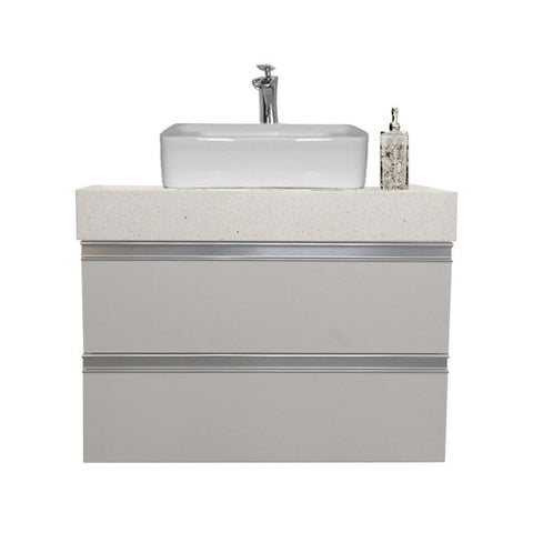 "30"" Floating Single Sink Vanity Set -Gray"
